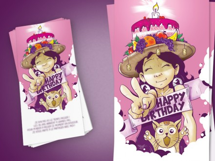 Illustration Carte anniversaire
