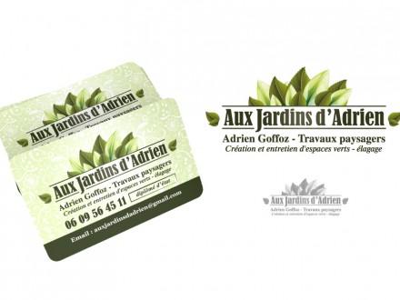 Carte de visite Aux Jardin d'Adrien