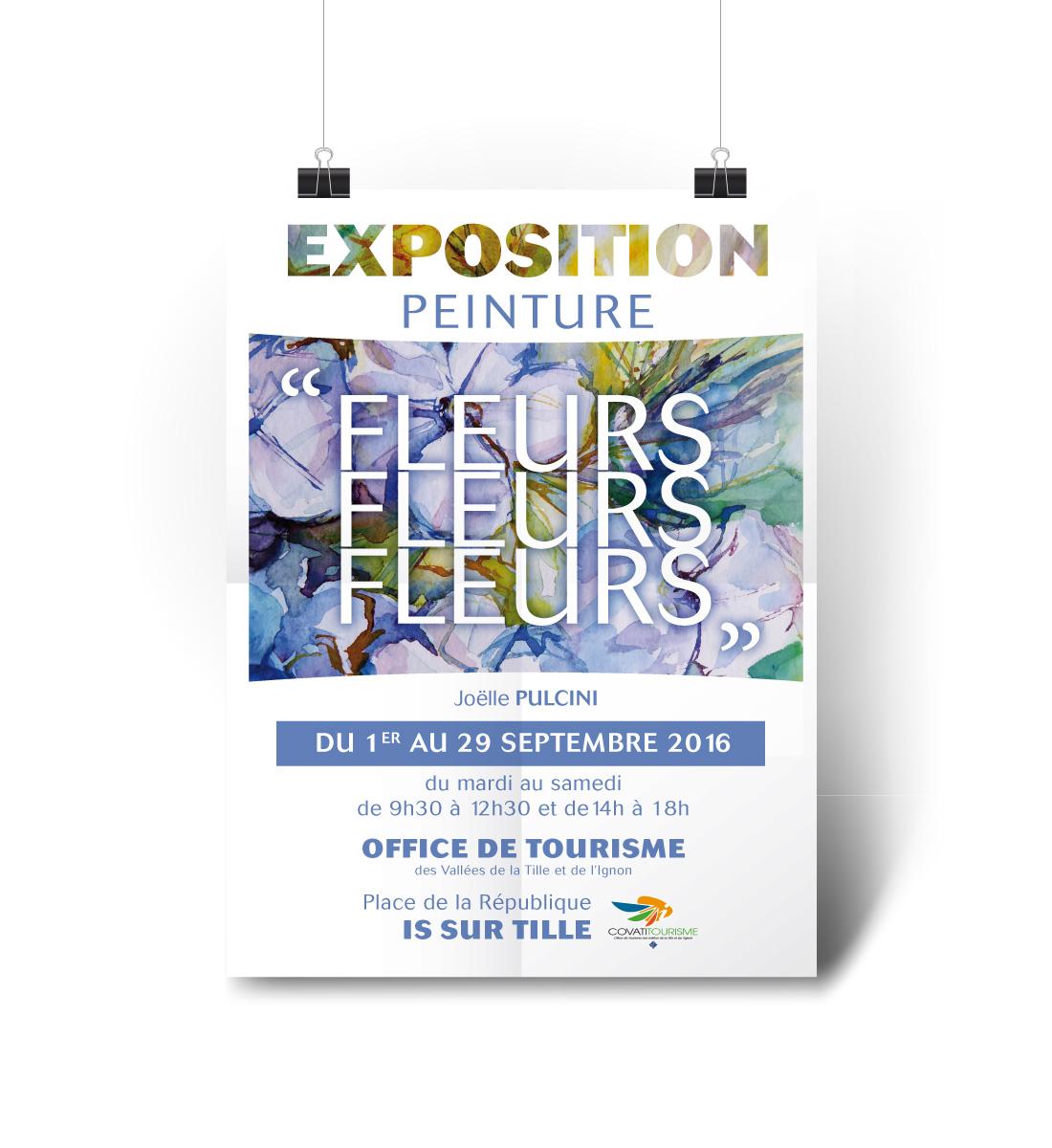 création affiche exposition