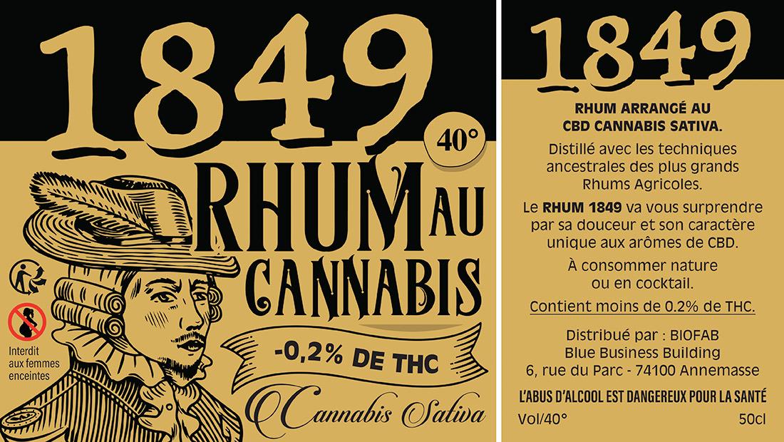 Etiquettes Rhum au CBD-1